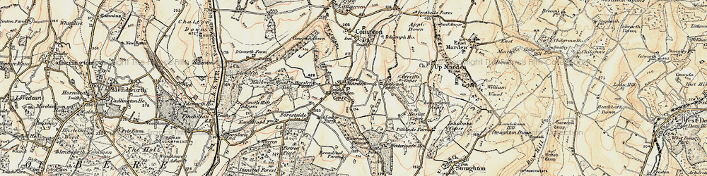 Old map of West Marden in 1897-1899