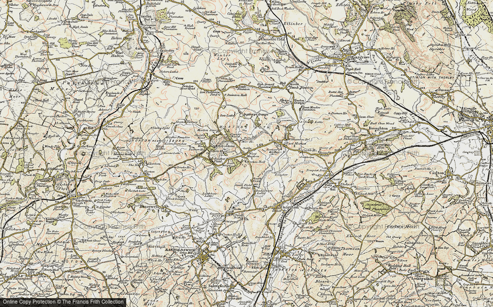 Old Map of Historic Map covering Bale New Plantn in 1903-1904