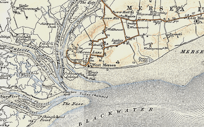 Old map of West Mersea in 1898