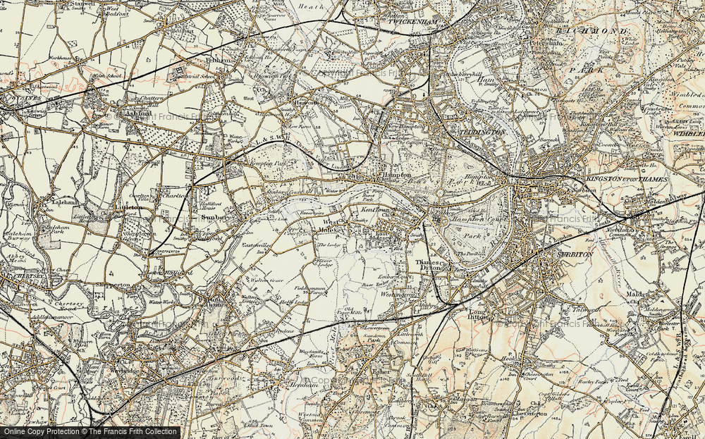 Old Map of West Molesey, 1897-1909 in 1897-1909