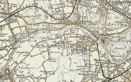 Old map of West Molesey in 1897-1909