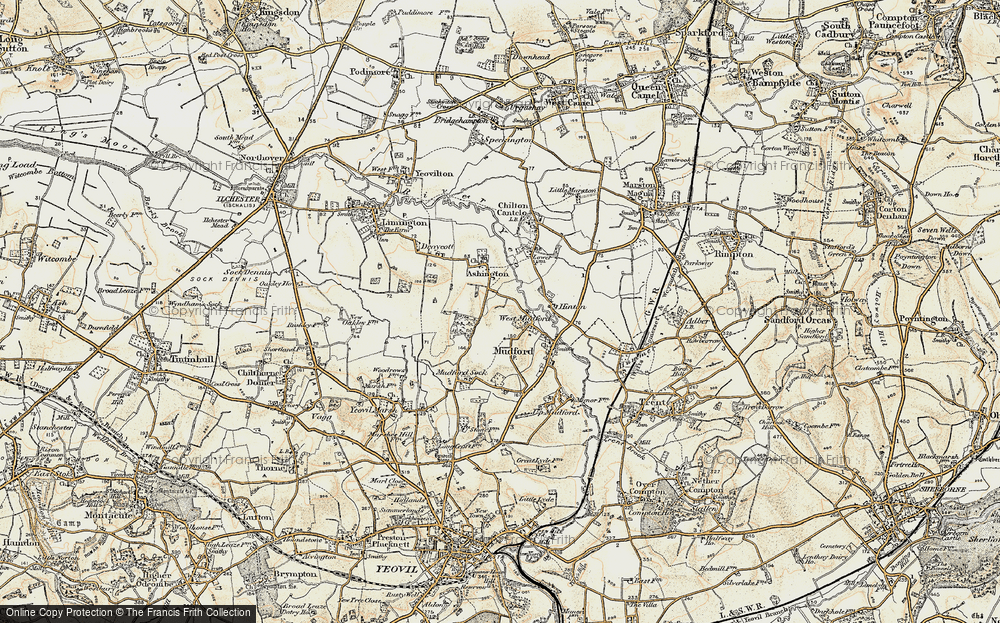 Old Map of Historic Map covering Ashington Wood in 1899