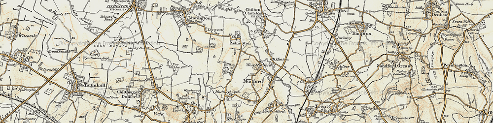 Old map of West Mudford in 1899