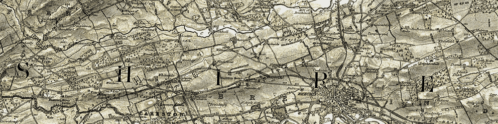 Old map of West Muir in 1907-1908