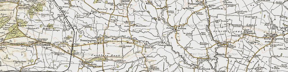 Old map of West Ness in 1903-1904