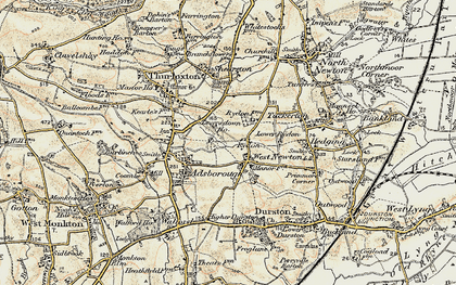 Old map of West Newton in 1898-1900