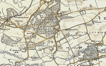 Old map of Woodcock Wood in 1901