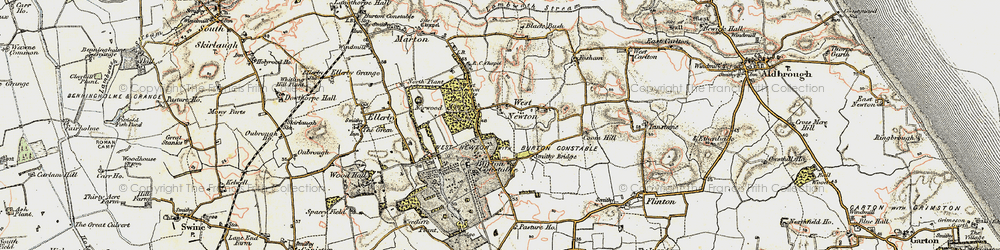 Old map of West Newton Belts in 1903-1908
