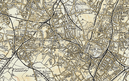Old map of West Norwood in 1897-1902