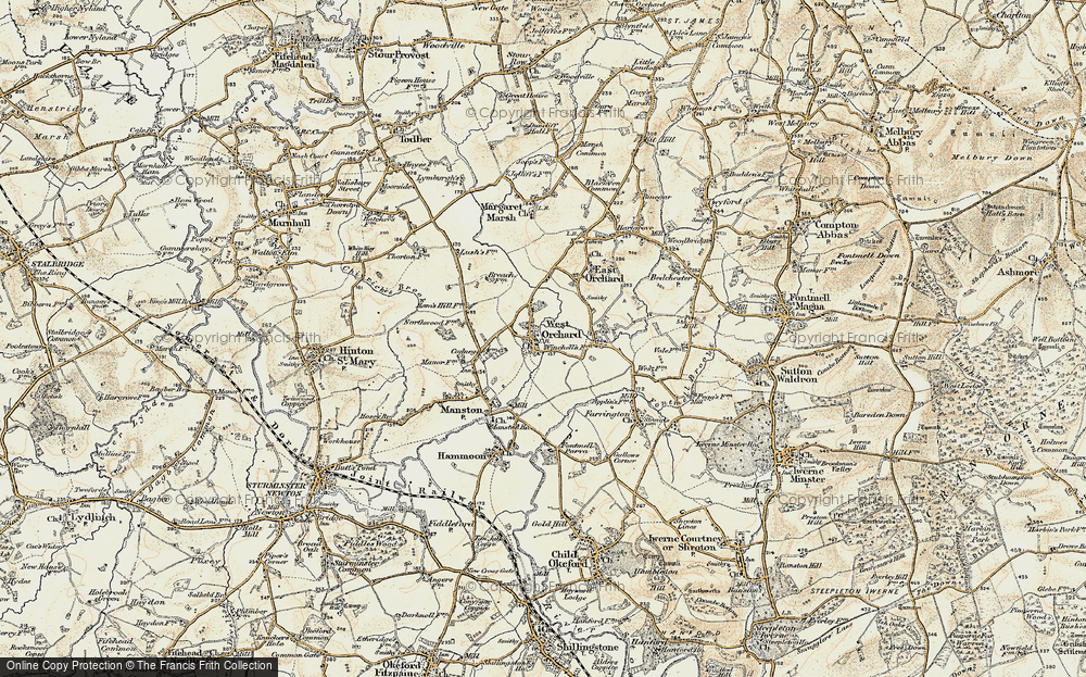 Old Map of West Orchard, 1897-1909 in 1897-1909