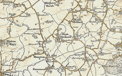 Old map of West Orchard in 1897-1909