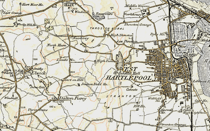 Old map of West Park in 1903-1904