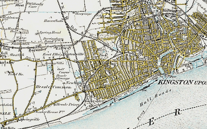 Old map of West Park in 1903-1908