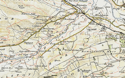 Old map of West Pasture in 1903-1904