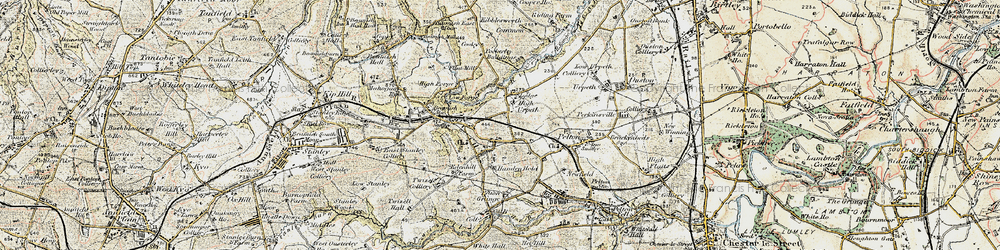 Old map of West Pelton in 1901-1904