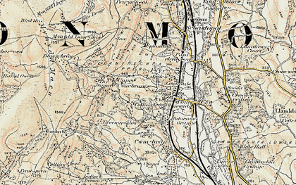 Old map of West Pontnewydd in 1899-1900