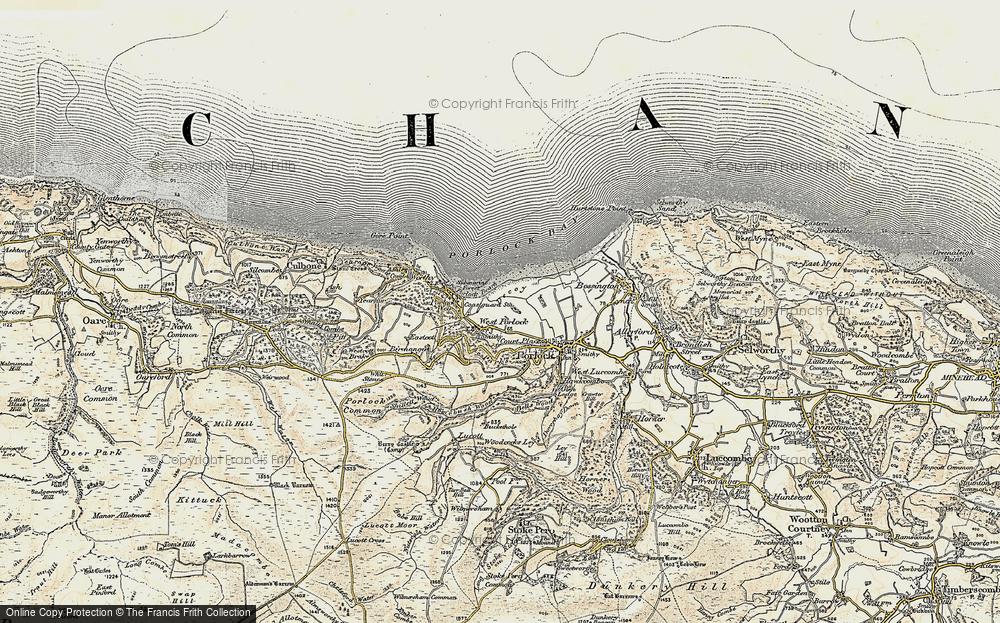 Old Map of West Porlock, 1900 in 1900