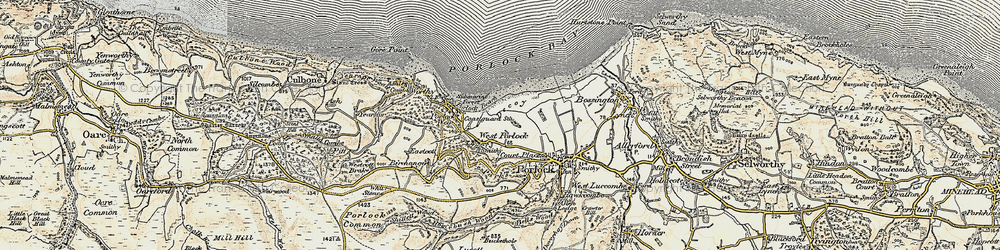 Old map of West Porlock in 1900
