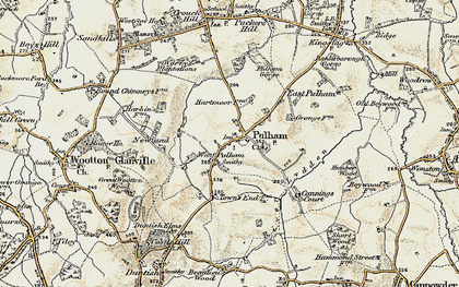 Old map of West Pulham in 1899