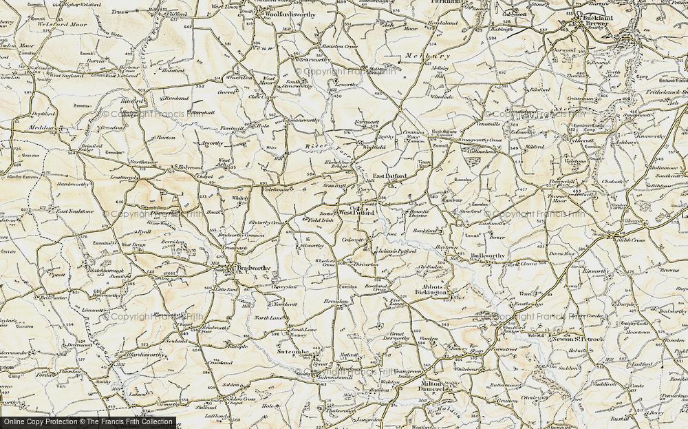 Old Map of West Putford, 1900 in 1900