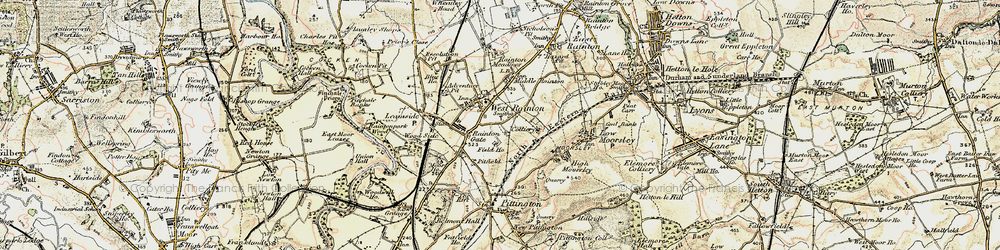 Old map of West Rainton in 1901-1904