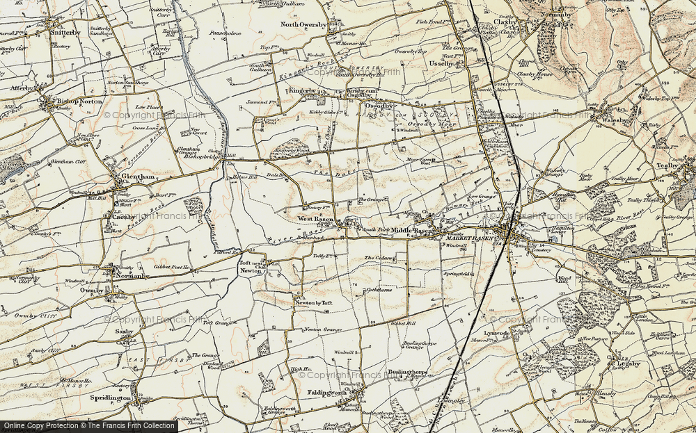 Old Map of West Rasen, 1903 in 1903
