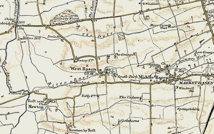 Old map of West Rasen in 1903