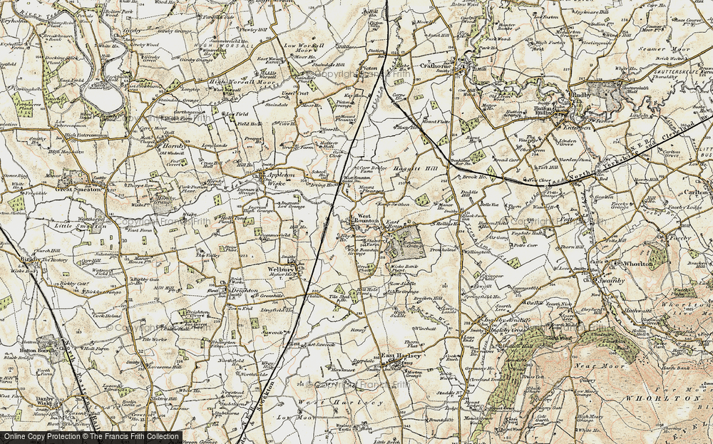 Old Map of West Rounton, 1903-1904 in 1903-1904
