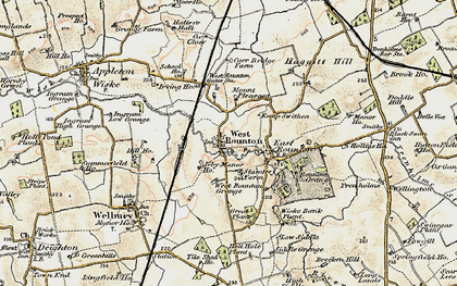 Old map of West Rounton Grange in 1903-1904