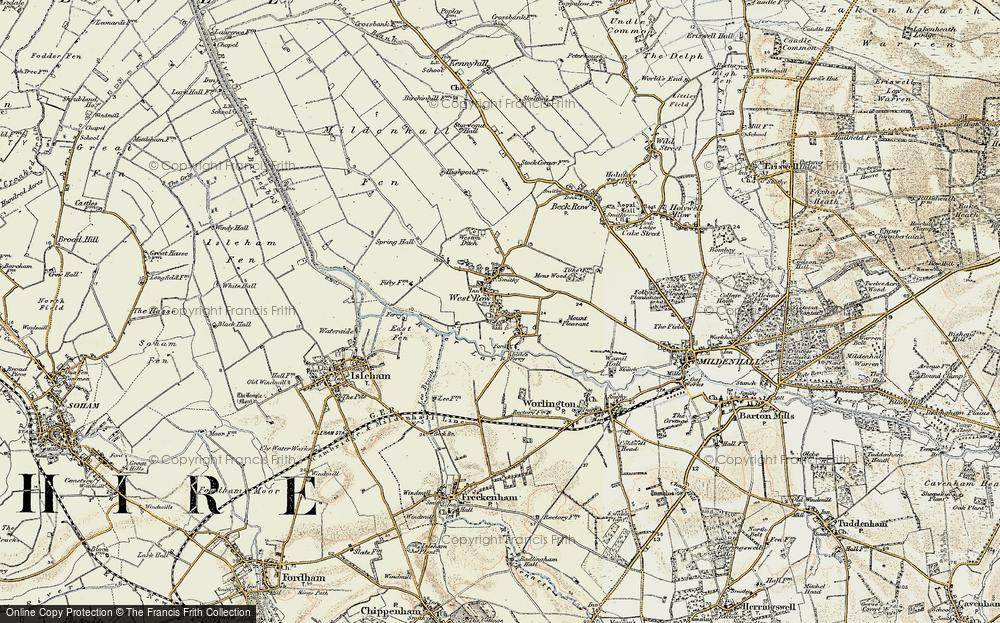 West Row, 1901