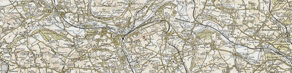 Old map of West Royd in 1903-1904