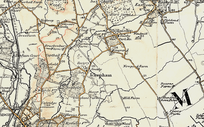 Old map of West Ruislip in 1897-1898