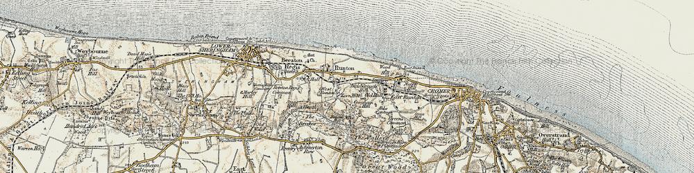 Old map of West Runton in 1901-1902