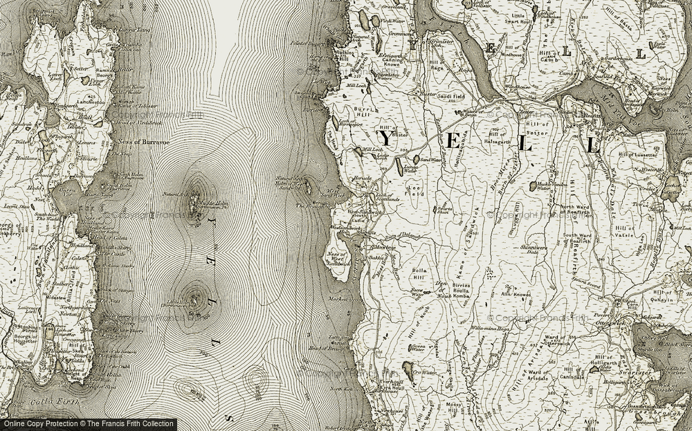 Old Map of Historic Map covering Backa in 1912