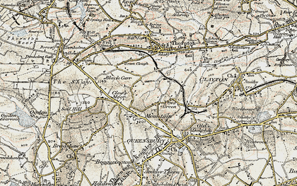 Old map of West Scholes in 1903