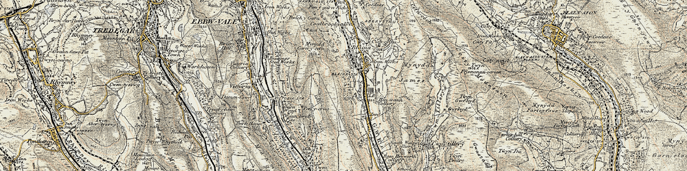 Old map of West Side in 1899-1900