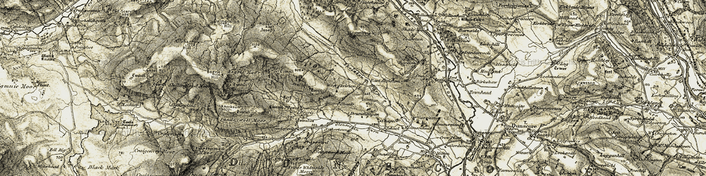 Old map of West Skelston in 1904-1905
