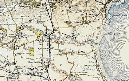 Old map of West Sleekburn in 1901-1903