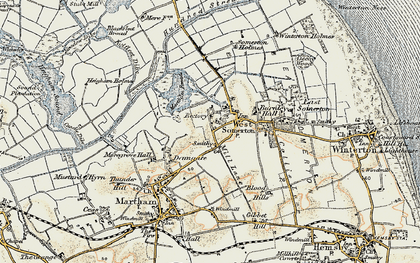 Old map of West Somerton in 1901-1902