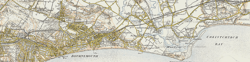 Old map of West Southbourne in 1899-1909