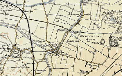 Old map of West Stockwith in 1903