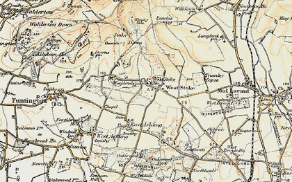 Old map of West Stoke in 1897-1899
