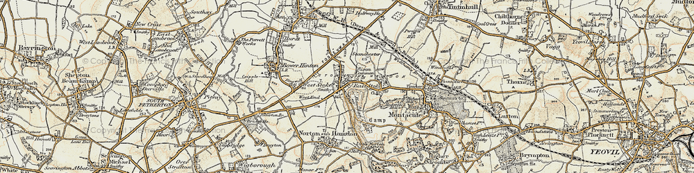 Old map of West Stoke in 1898-1900