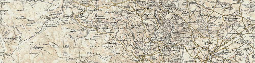 Old map of West Stoke in 1899