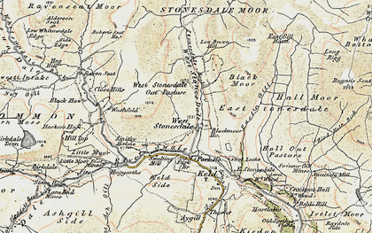 Old map of West Stones Dale in 1903-1904