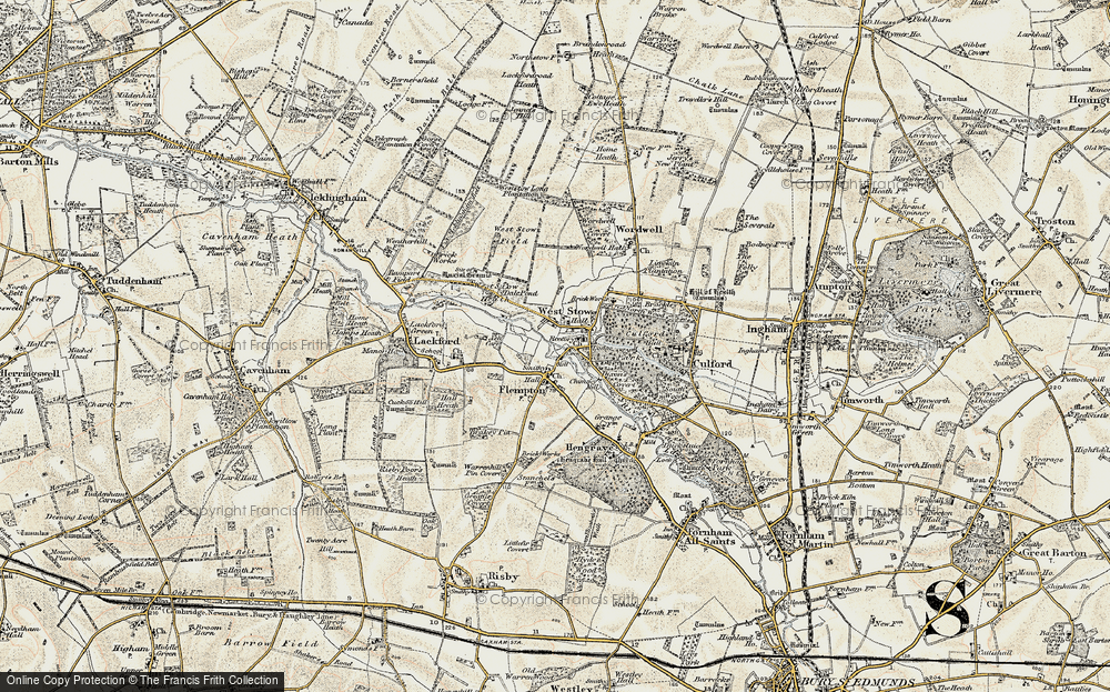 Old Map of Historic Map covering Ash Carr in 1901
