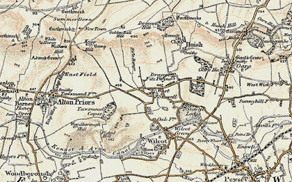 Old map of West Stowell in 1897-1899