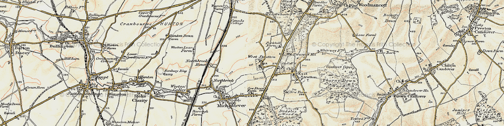 Old map of West Stratton in 1897-1900