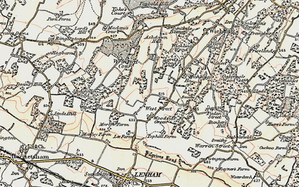 Old map of West Street in 1897-1898