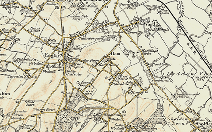 Old map of West Street in 1898-1899